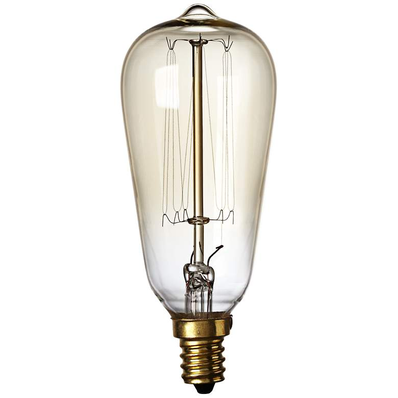 Nostalgic 60 Watt Candelabra Base Edison Style Light Bulb 7x542 Lamps Plus In 2020