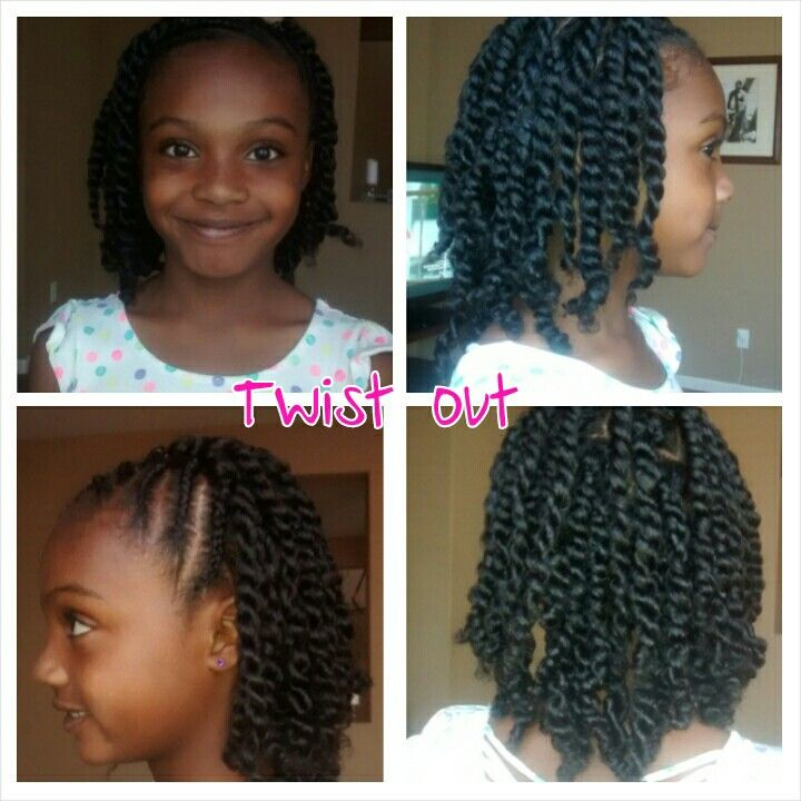 Twist Out With Olive Oil Eco Styler Gel And Africa S Best Herbal Oil Natural Hairstyles For Kids Natural Hair Braids Kids Braided Hairstyles