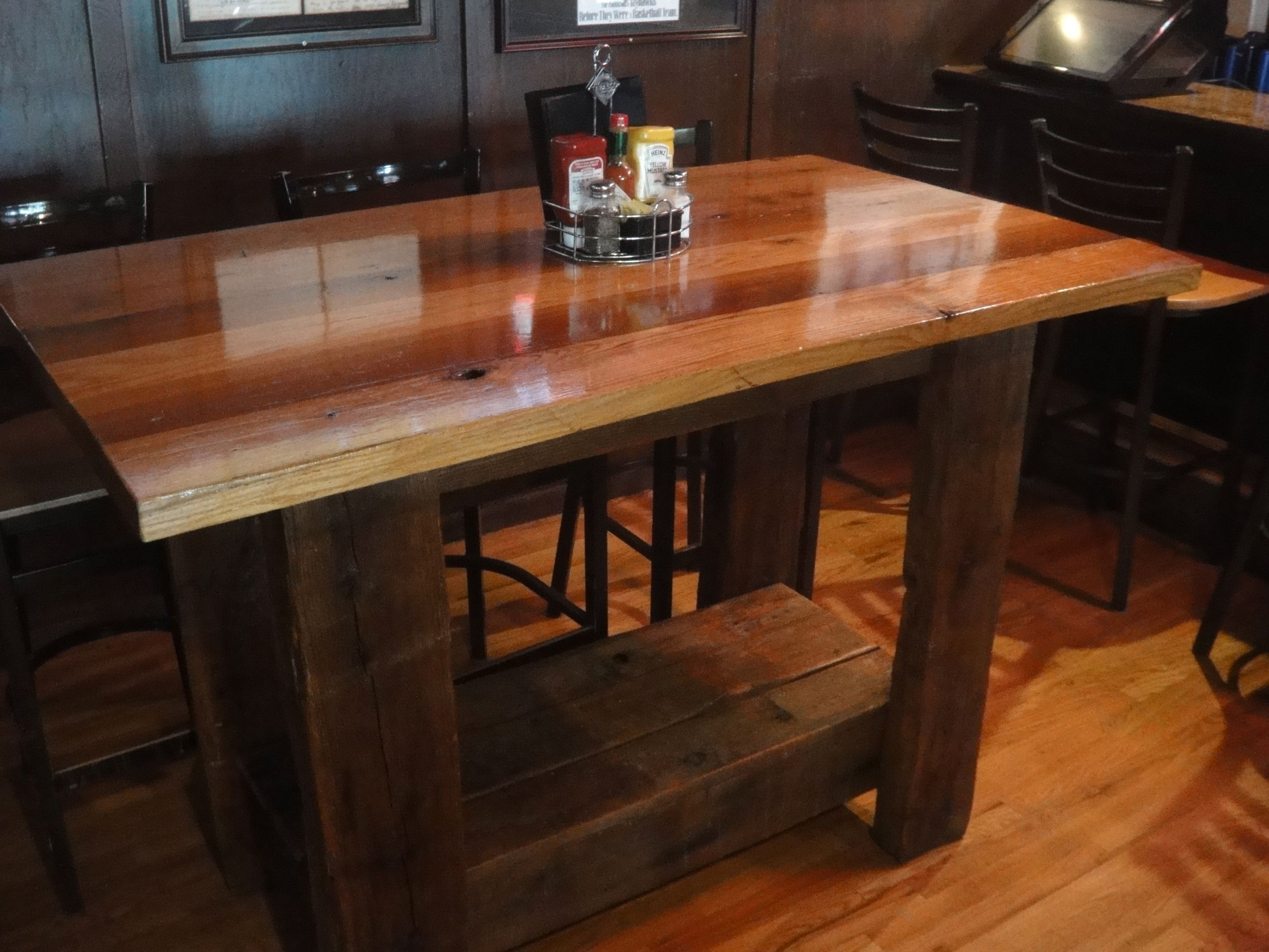 its a beauty  pub table we made for Johnny s Tavern at 83rd   Mission. 131 best Barn Wood tables we have built images on Pinterest