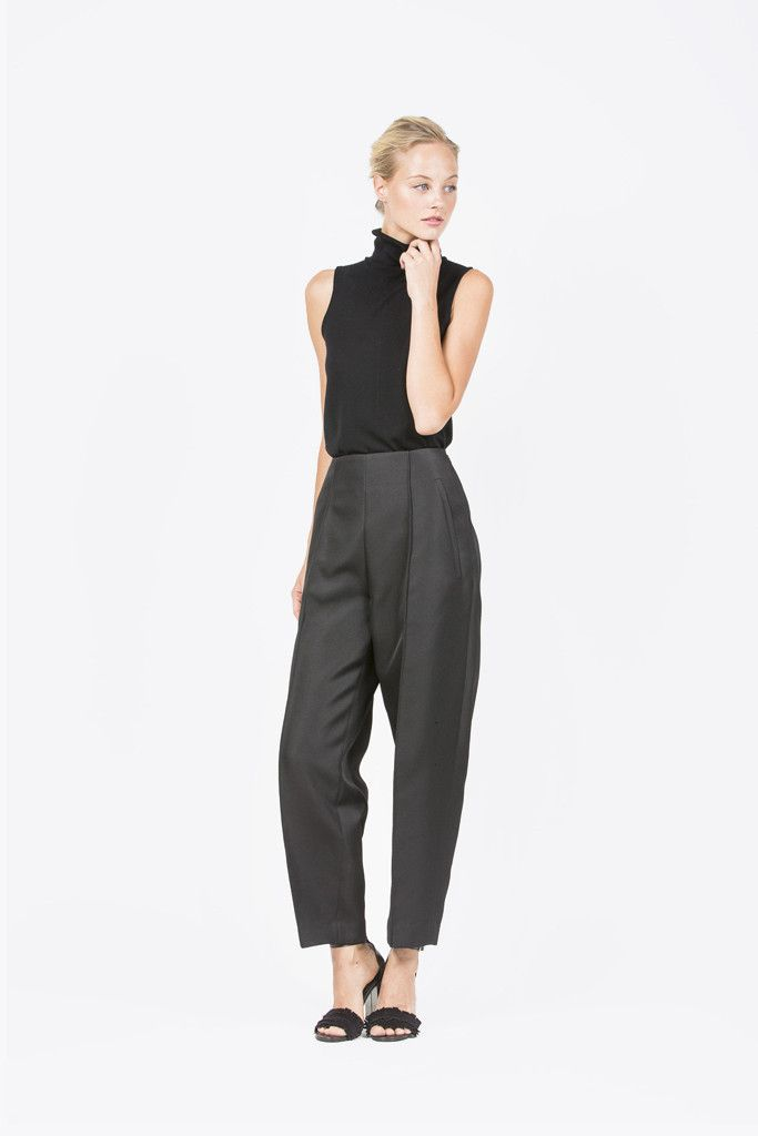 Wool Sleeveless Turtleneck, Black by Allude #kickpleat #allude #cashmere #turtleneck