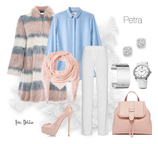 """Petra"" by debbie-michailides ❤ liked on Polyvore featuring Giamba, Faliero Sarti, DKNY, Giuseppe Zanotti, Dinh Van, David Yurman, Bloomingdale's, women's clothing, women and female"