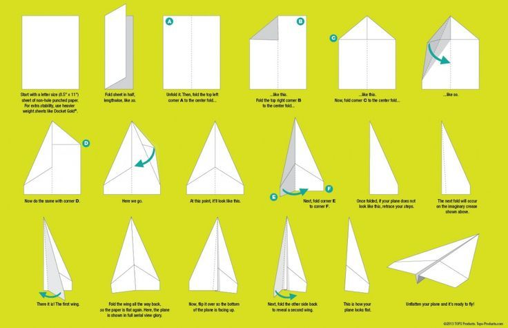 How To Make Paper Airplanes Step By Bing Images