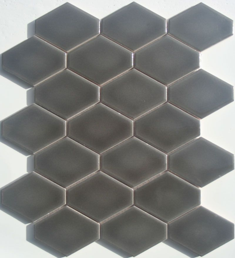 Lyric Lounge Collection Elongated Hex Tile Plane In Ferrous Gray Perfect For Kitchen