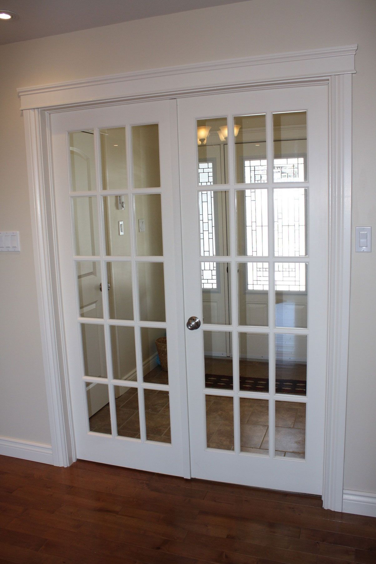 White double french doors interior