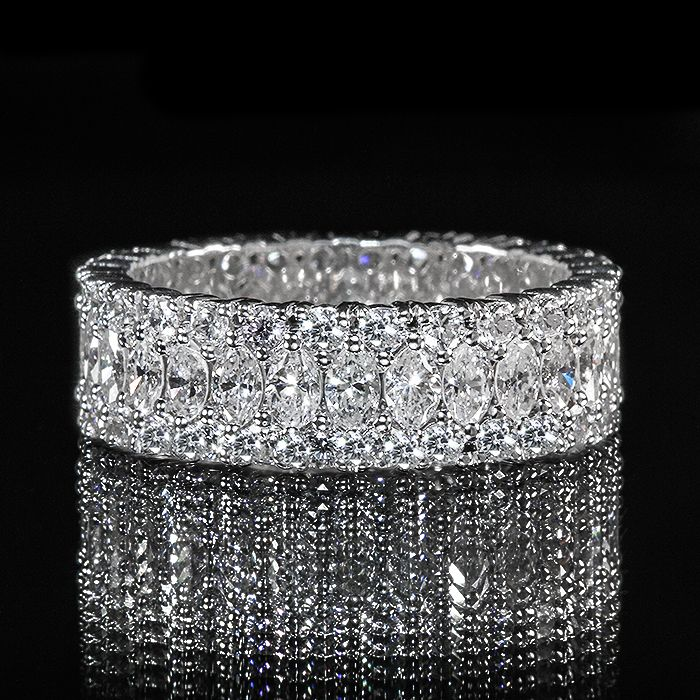 Marquise And Round Diamond Eternity Band Wedding Engagement Ring Round Diamond Eternity Band Eternity Band Diamond Eternity Ring Diamond