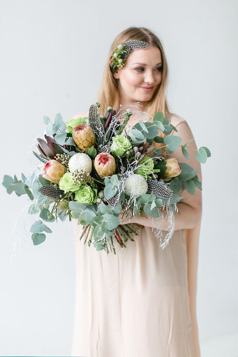 Blume Des Monats Januar Protea Hochzeit Heiraten Brautstrauss