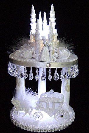 Lighted Cinderella Castle Wedding Cake Toppers 103 Lit
