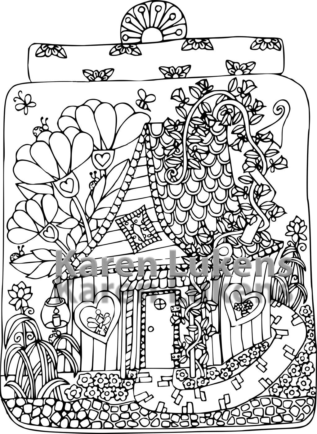 Bildergebnis Fur Printable Fairy House Coloring Pages Adult