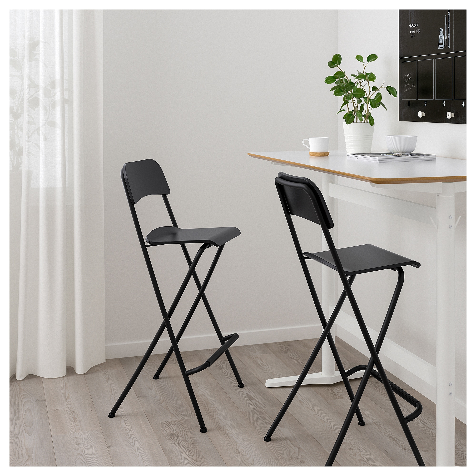 Brilliant Franklin Bar Stool With Backrest Foldable Black Black Ikea Caraccident5 Cool Chair Designs And Ideas Caraccident5Info