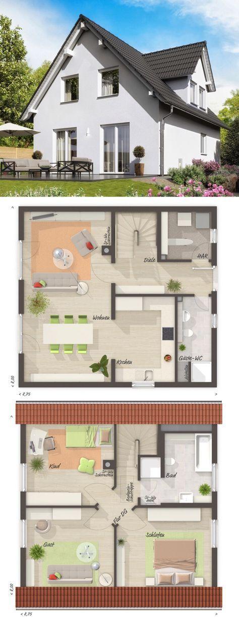 Einfamilienhaus RAUMWUNDER 100 mit Satteldach