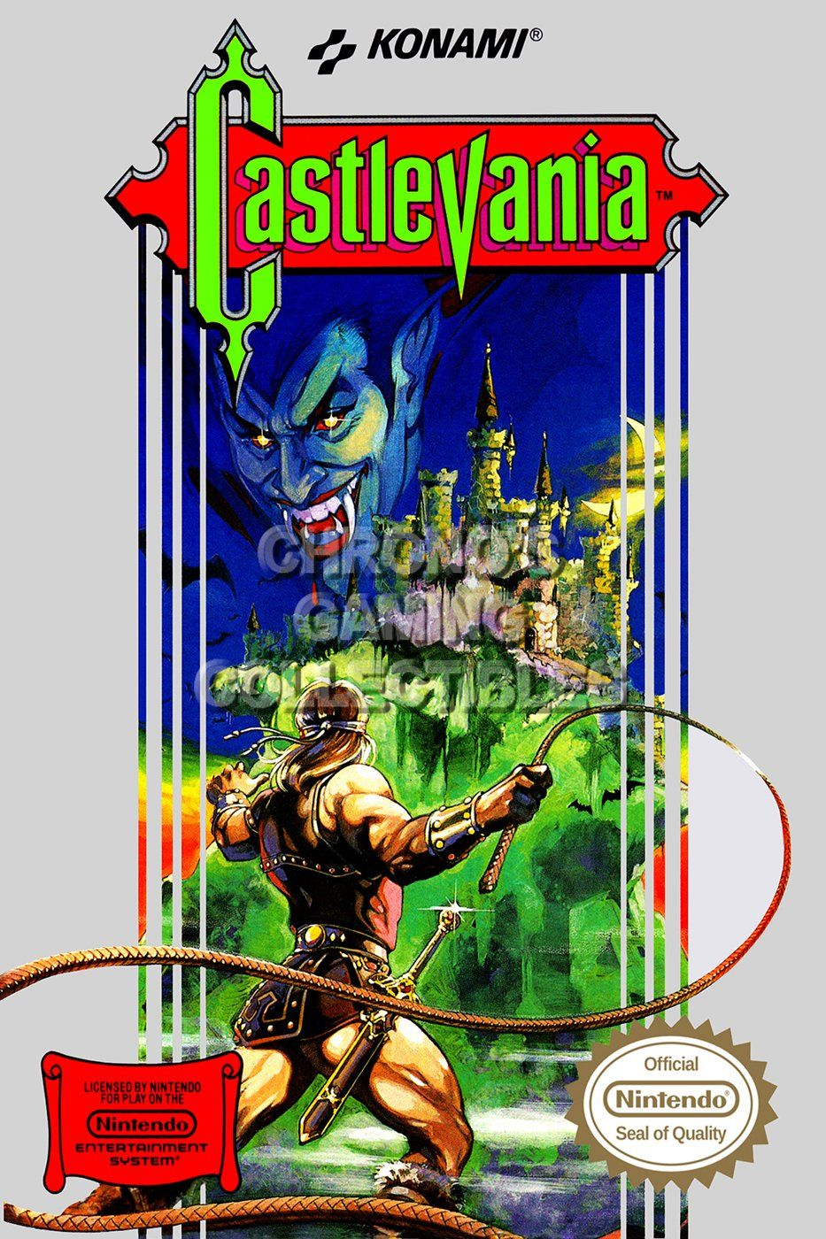 Amazon Com Cgc Huge Poster Castlevania Original Nes Nintendo Box