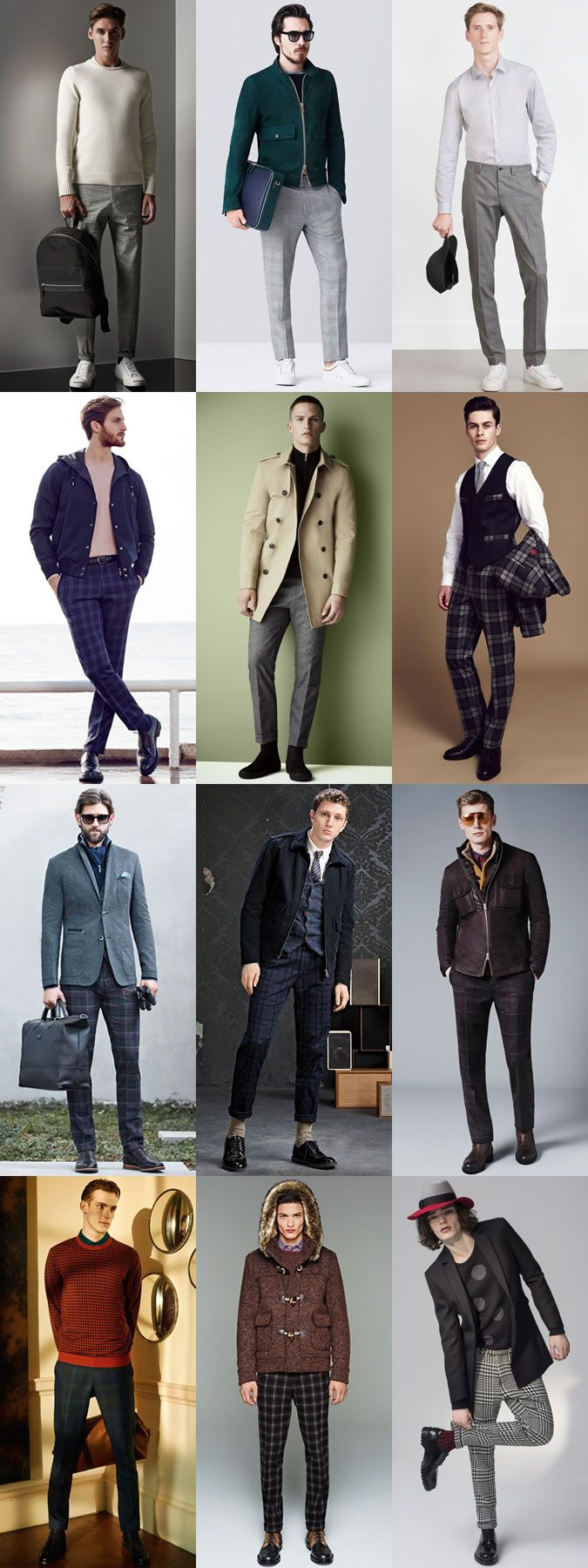 Men's Checked Trousers Outfit Inspiration Lookbook ...