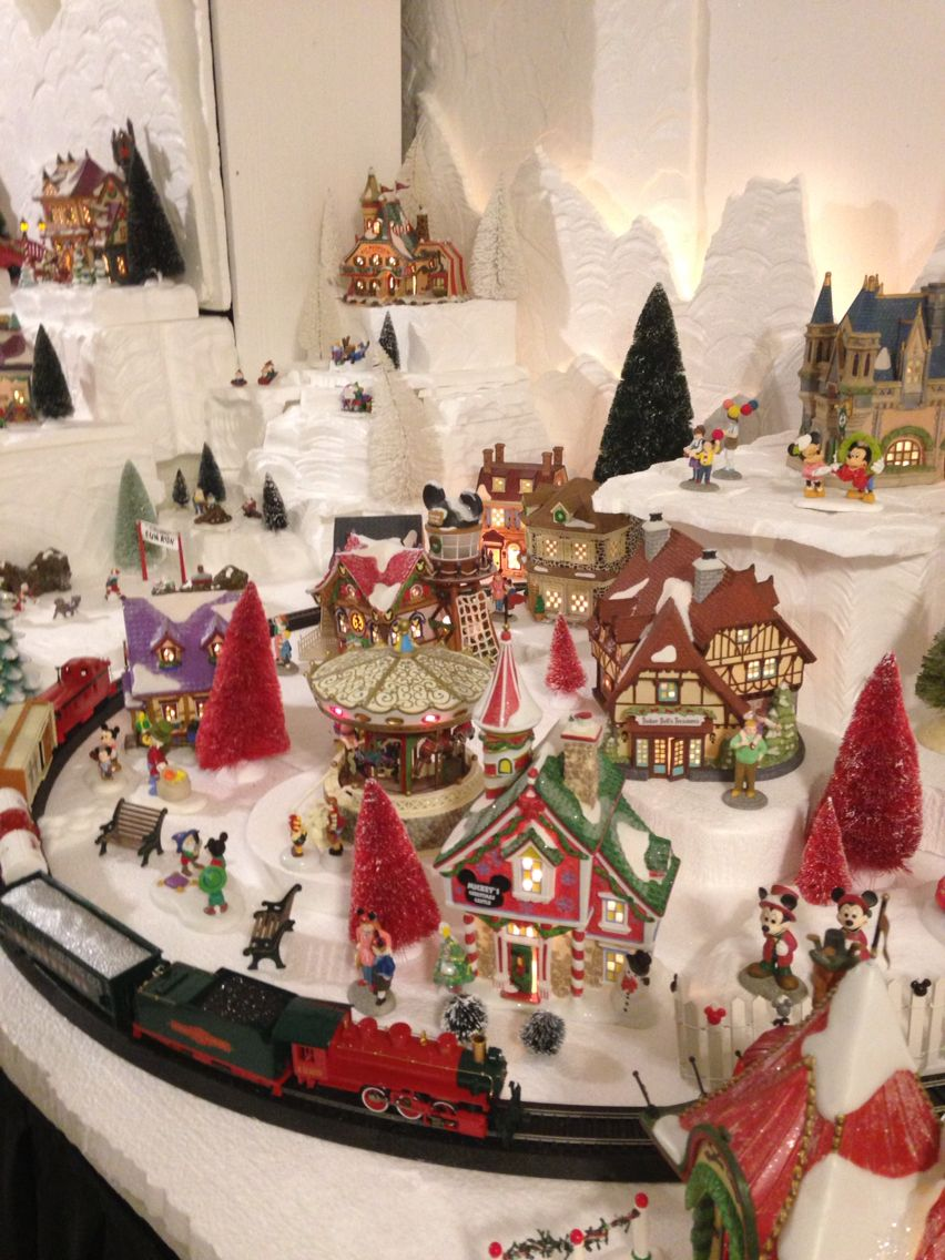 Disney section of my Dept 56 North Pole Christmas village | Dept ...