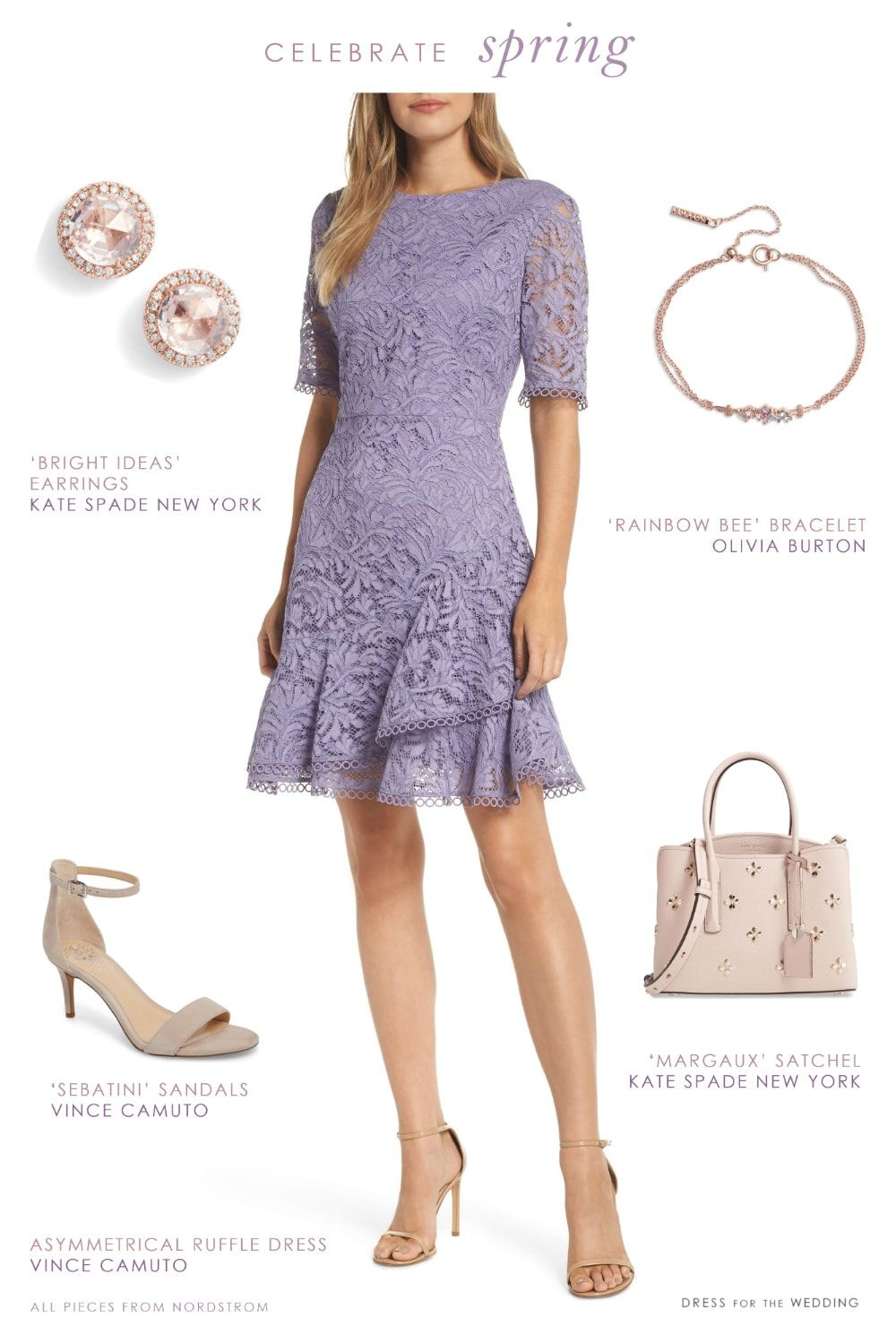 Cute Outfit To Wear For Easter Or To Spring Weddings Lavender Lace Dress For Spring Dresses Eastero Lace Dress Outfit Celebrity Dresses Lavender Lace Dress