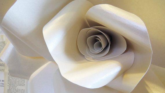 Faerie ivory opal paper wall rose wall decor wall art paper faerie ivory opal paper wall rose wall decor wall art paper sculpture flower taxidermy mightylinksfo