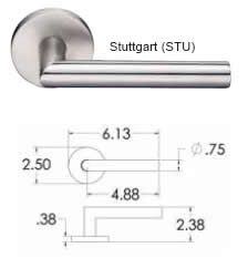 Emtek Stuttgart Lever Handle Measurements Emtek Door Hardware