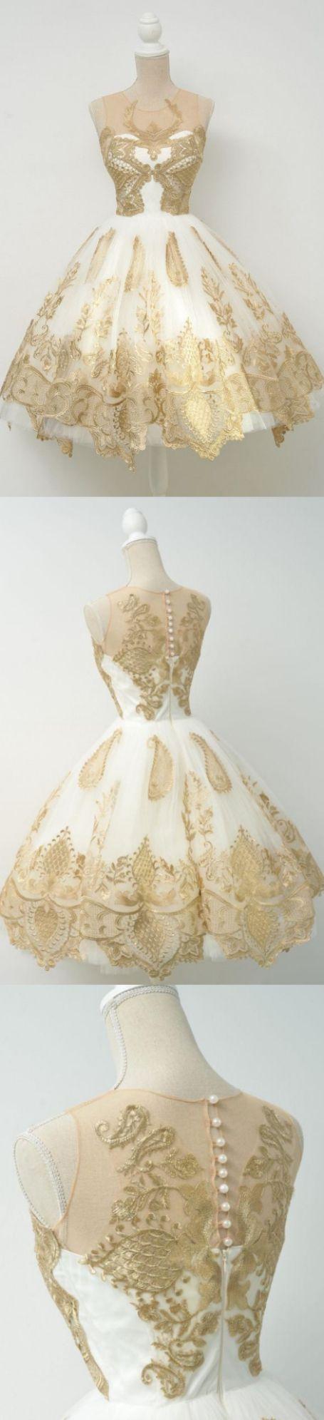 Pearl homecoming dresses gold alineprincess homecoming dresses