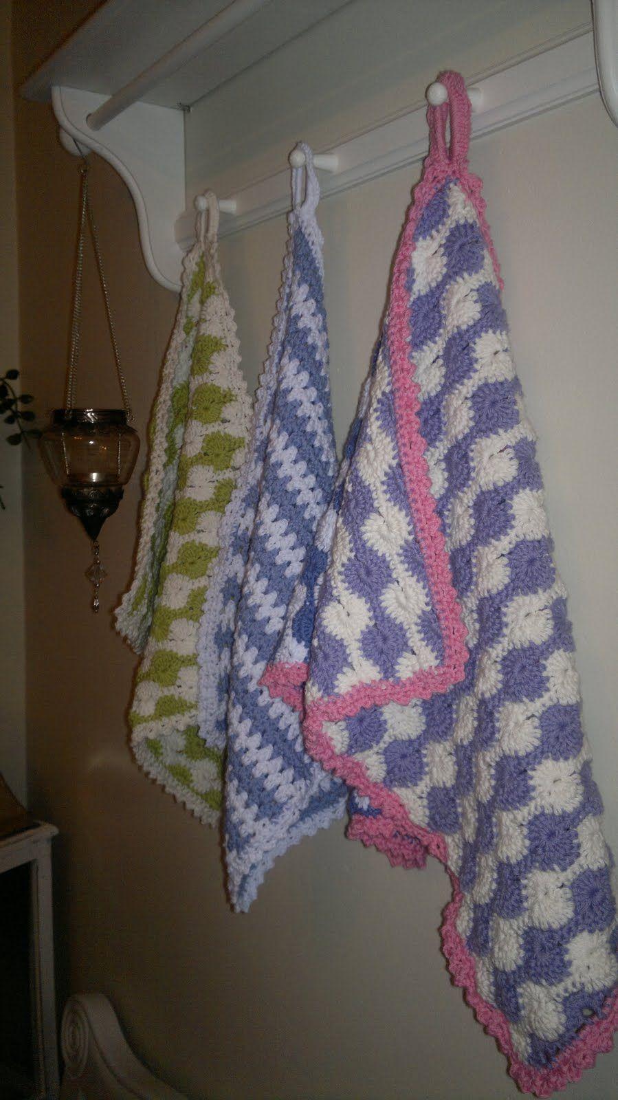 Frøken Lykkelig: Heklete håndduker