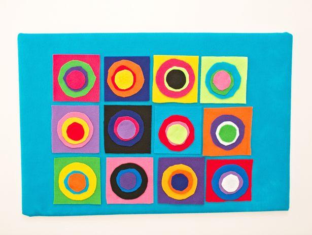 Diy kandinsky circles felt board artist project for kids for Kandinsky reggio emilia