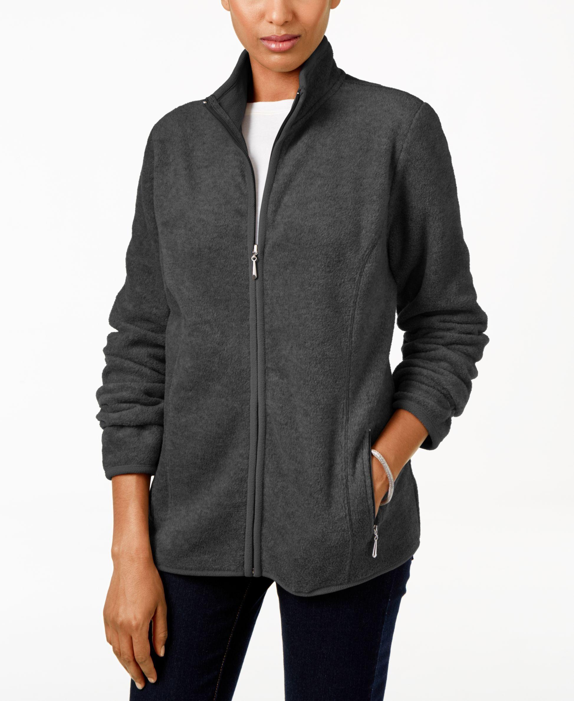 Karen Scott Petite Zip Up Fleece Jacket Only At Macy S Fleece Jacket Blazer Jackets For Women Jackets [ 2378 x 1947 Pixel ]