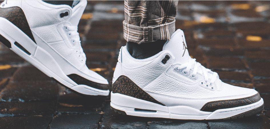 """Nike Air Jordan III """"Mocha"""" On Feet"""