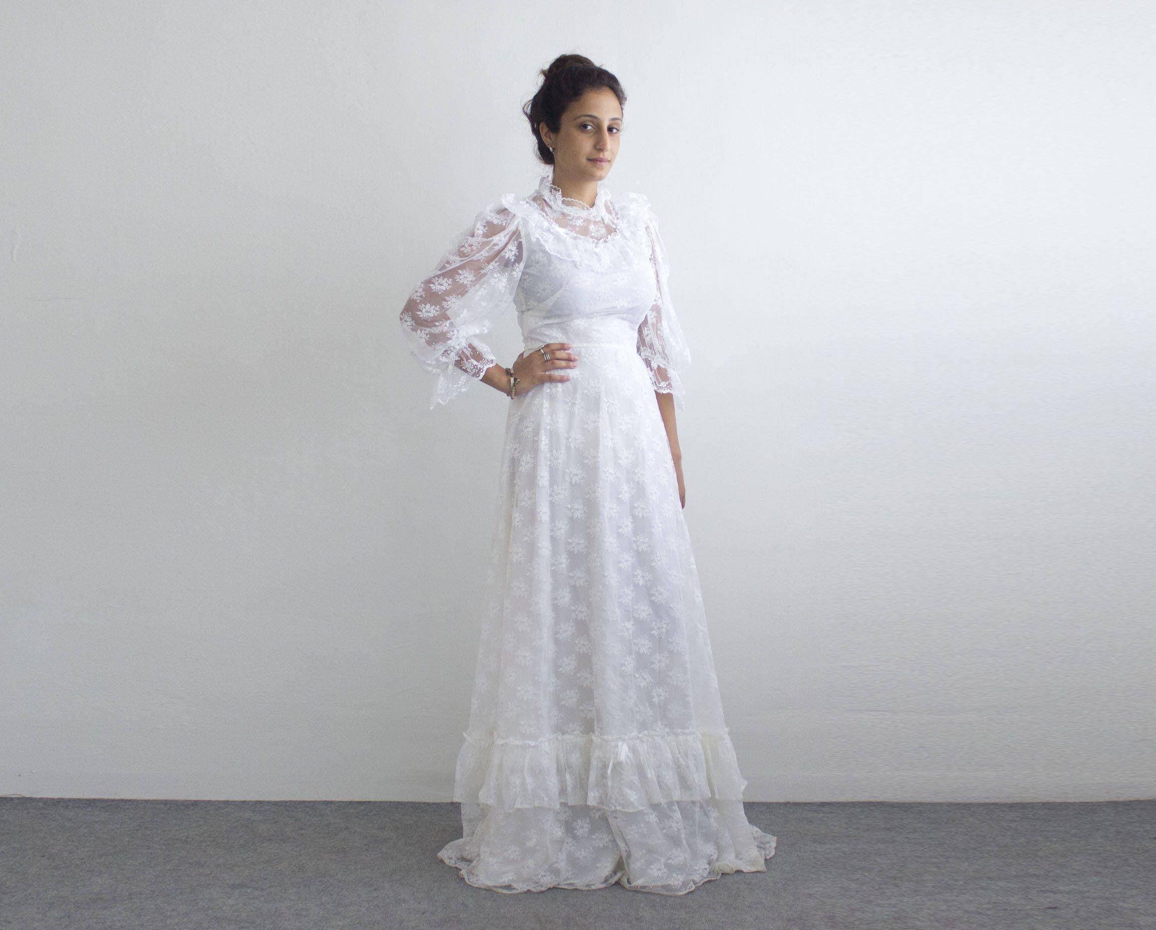Vintage Wedding Dress 80s Nina Ricci Wedding Gown Vintage White Lace Dress Crinoline Long Vintage White Lace Dress Wedding Dresses Vintage Lace White Dress [ 1871 x 2324 Pixel ]