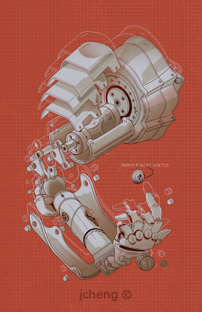 Elric's automail. Always thought this was a cool piece of ...