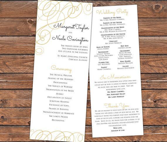 Printable Wedding Program Monogram Modern by RedWagonDesignShop, $30.00