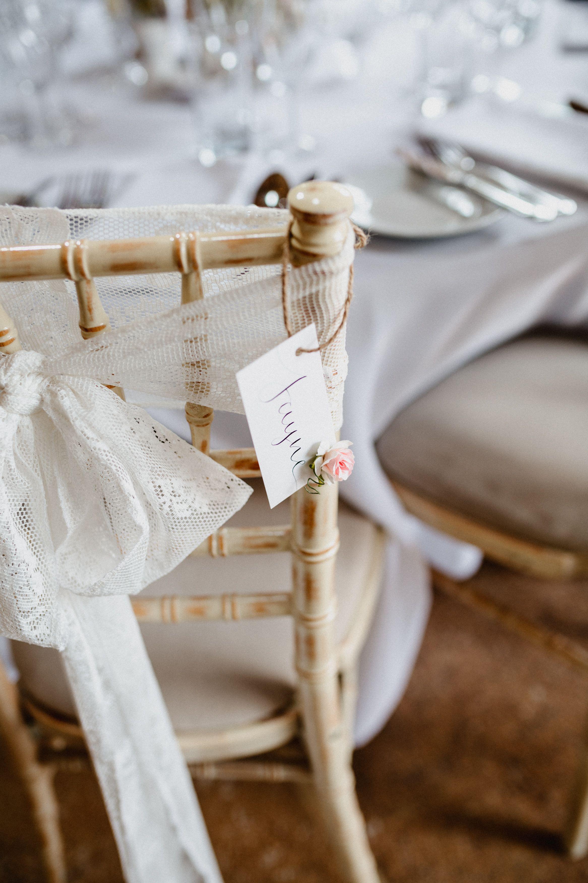 Country Garden Fl Wedding Venue Chair Names Tags I Made