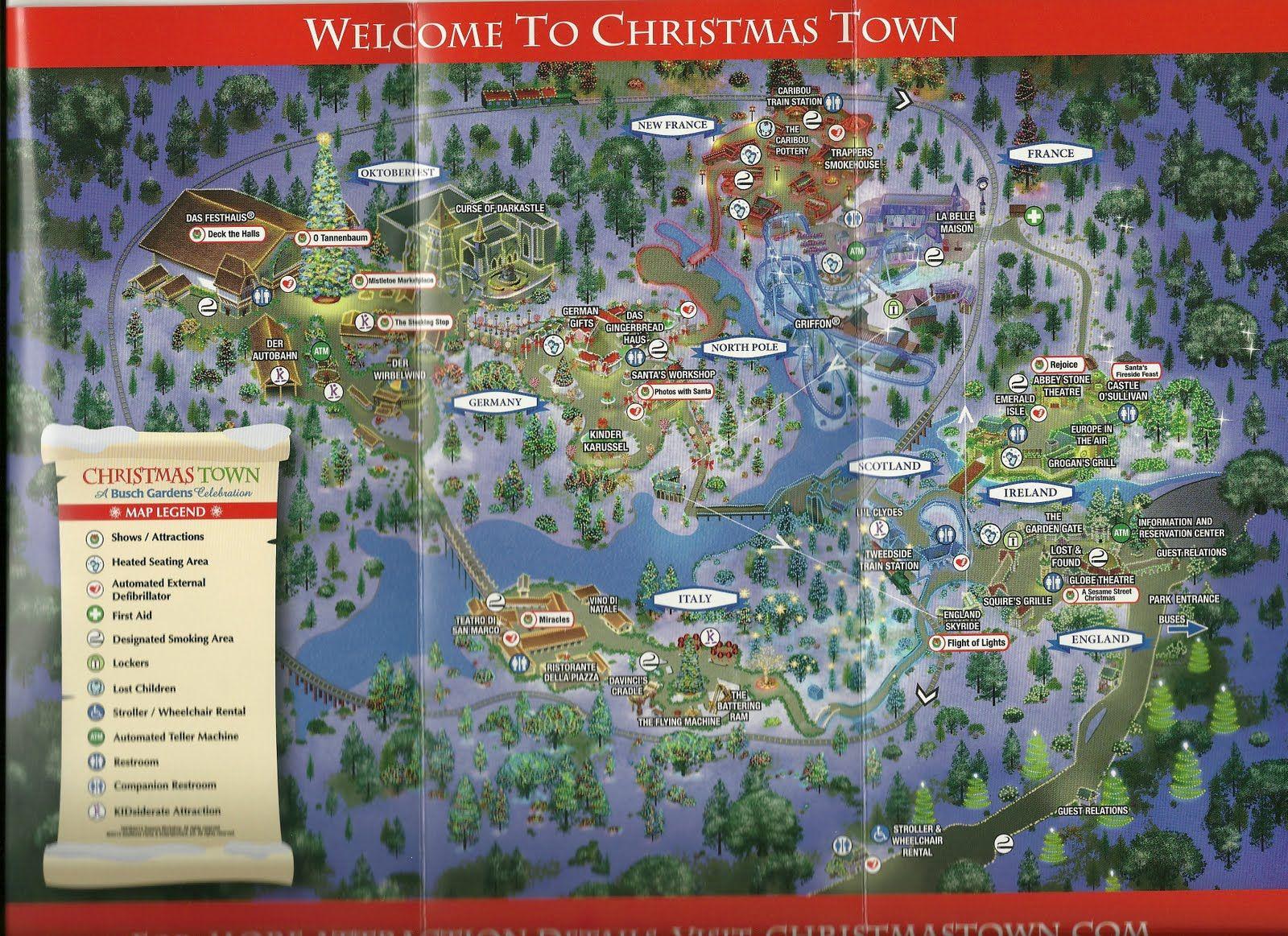 a066654477b14e9355f44d9d2a099117 - Busch Gardens Tampa Christmas Town Map