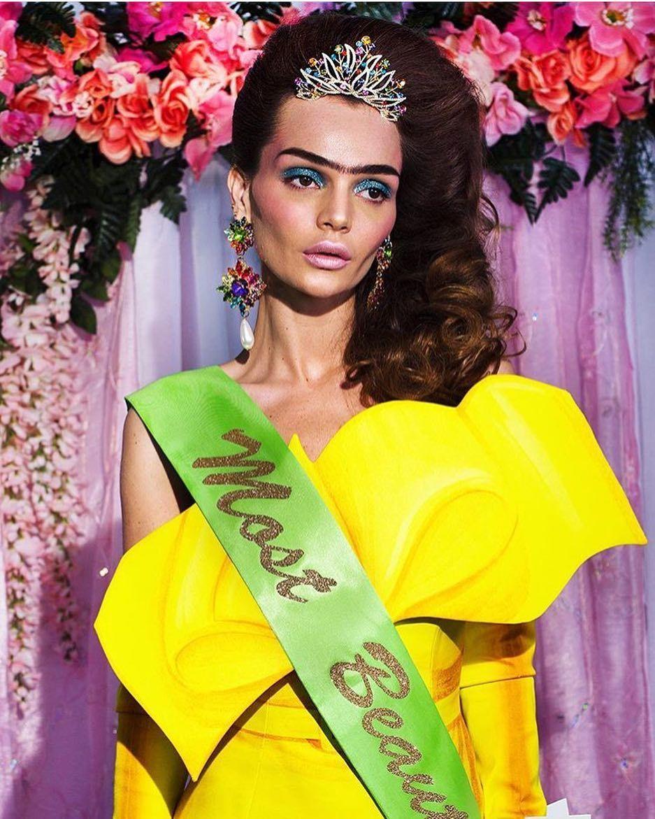 Unibrow makeup by kyrstamua for avant garde shoot 'The