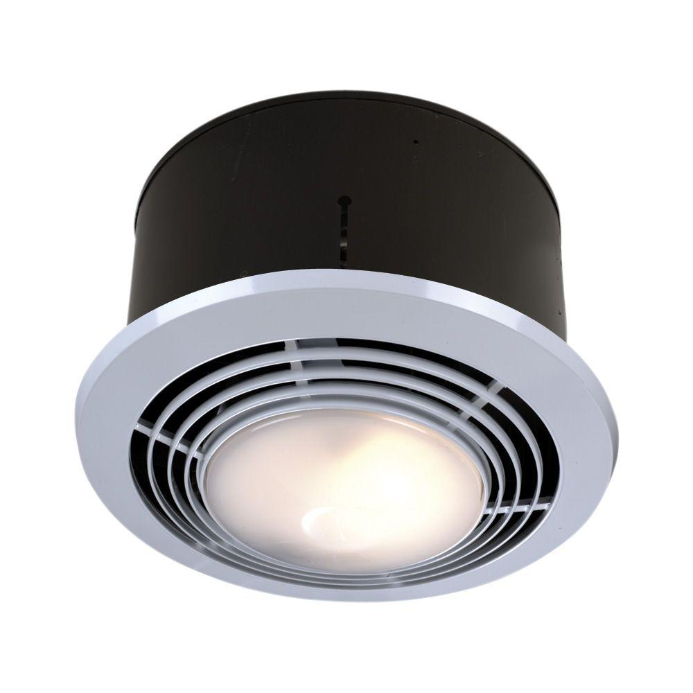 Nutone 70 Cfm Ceiling Bathroom Exhaust Fan With Light And Heater 9093wh Bathroom Fan Light Bathroom Heat Lamp Bathroom Ceiling Light