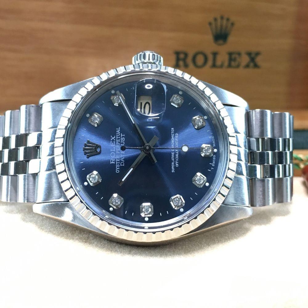 50518e65bef Men's Rolex DateJust, 16013 Diamond Dial, Vintage Automatic Rolex 36mm,  Quickset #Rolex