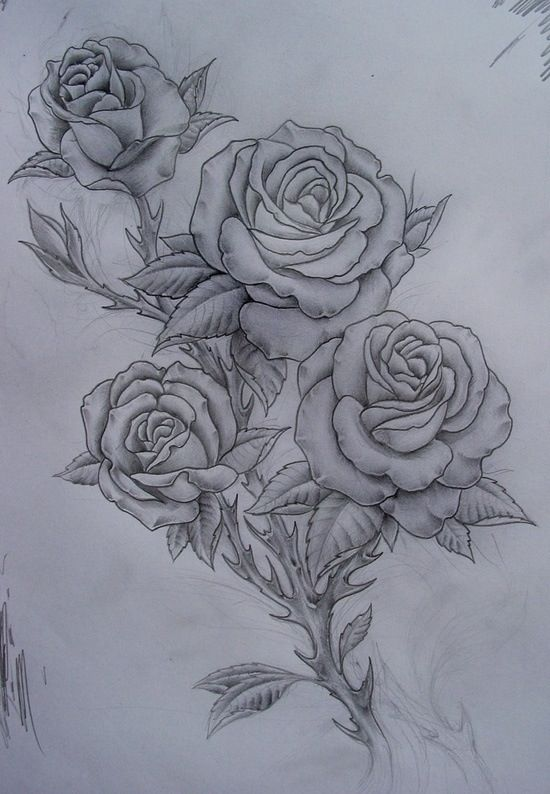 Rose tattoo idea...this is gorgeous!