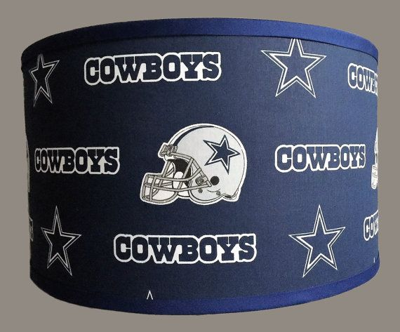 Dallas Cowboys Trendy Drum Lamp Shade Perfect For A Man Cave Or A Childs Themed Room 10 Drum Shade Shown 2nd In Phot Dallas Cowboys Drum Lampshade Cowboy Lamp