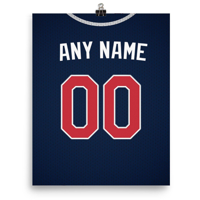 Atlanta Braves Jersey Poster Print Personalized Select Any Name Any Number Atlanta Braves Jersey Braves Jersey