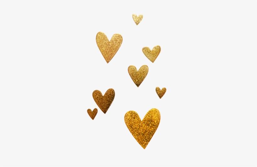 8 Gold Hearts Gold Glitter Heart Png Gold Glitter Heart Glitter Hearts Gold Glitter