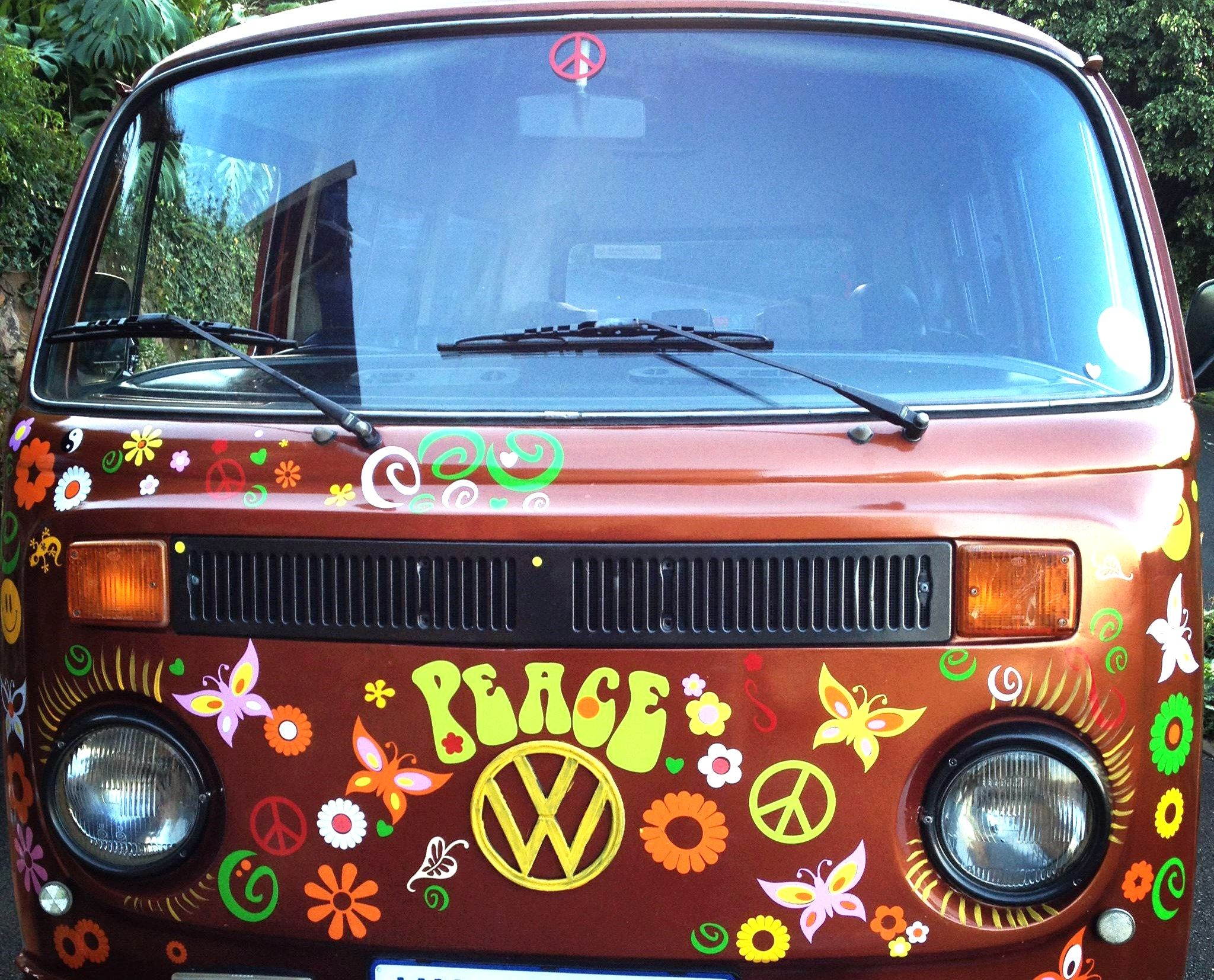 Peace Bus T VW Camper Van Decals Vinyl Decor Flower Car Stickers - Vinyl decals for cars uk