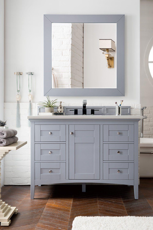 48 Palisades Silver Gray Single Bathroom Vanity James Martin Vanities Vanitiesdepot Single Bathroom Vanity Modern Master Bathroom Master Bathroom Makeover