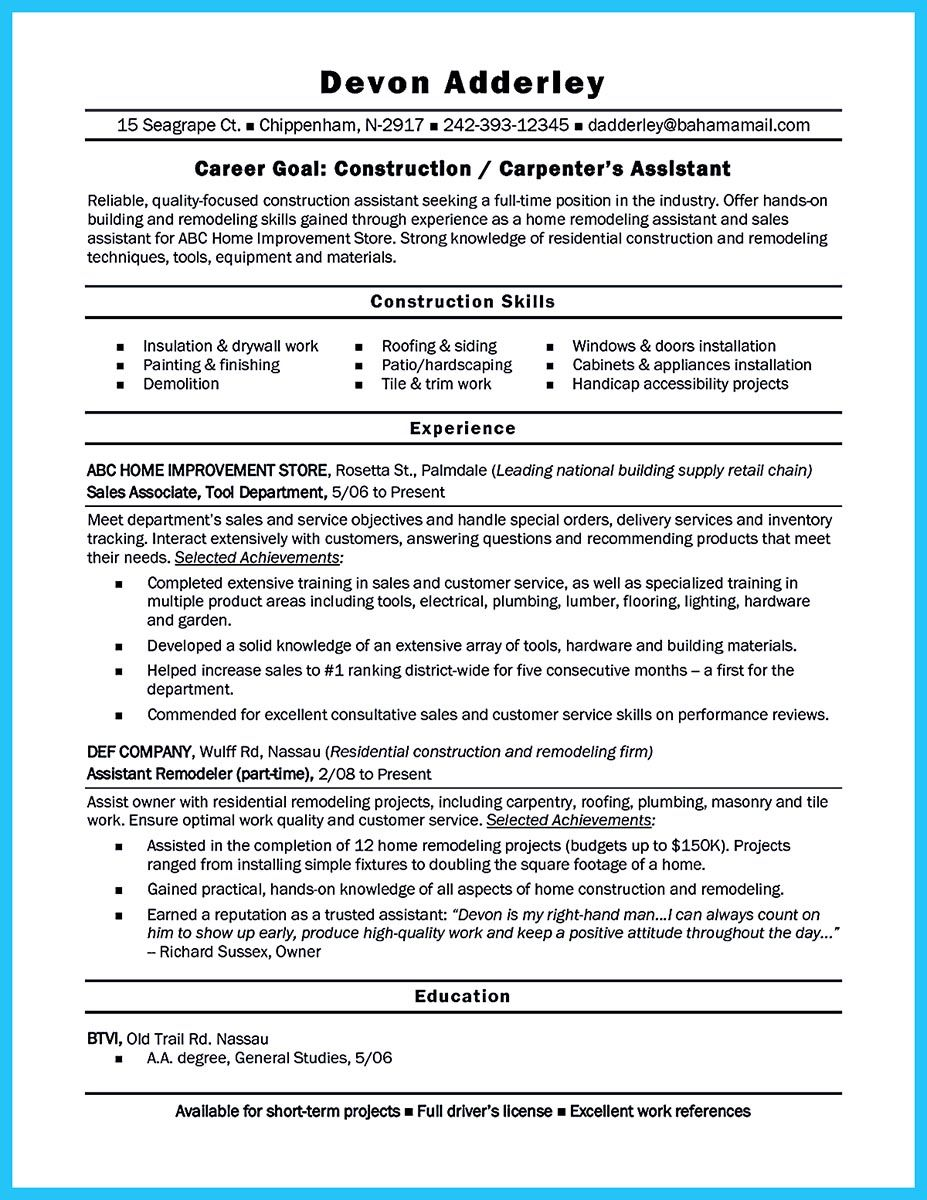 Sample Carpenter Resume Awesome We Understand You're Interested To Work As A Carpenterbut You .