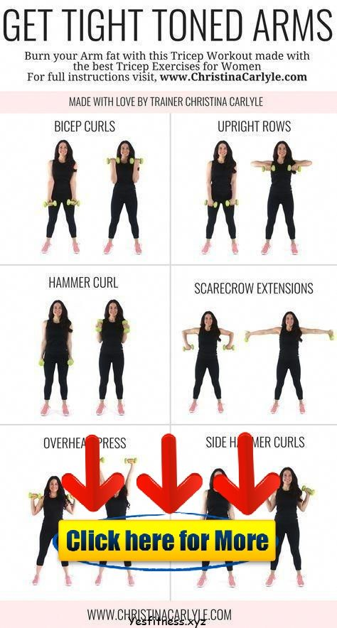 Arm Workout for Women, tone arm workout, weights, gym, arm and back workout, dum…