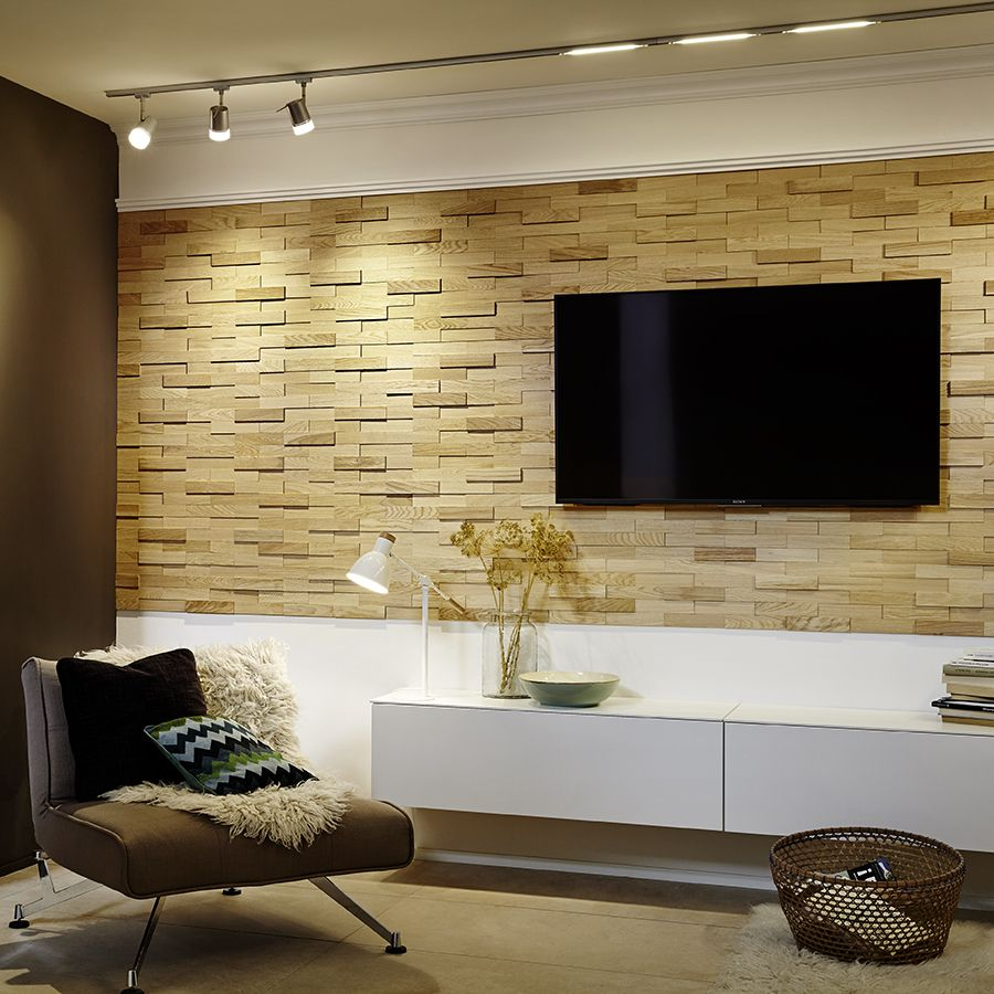 Shop Elida Ceramica Firenze Oak 9-Pack Dimensional Wood Panel Linear ...