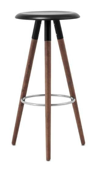 Add To My Famous 3 Legged Collection Vig Barstool Black Or White Lacquered Wood Top Walnut Legs Boconcept Denmark