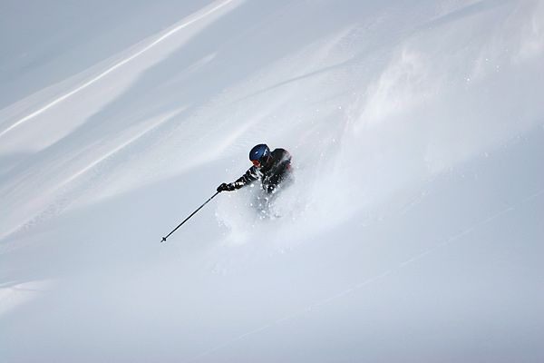 Powder skiing in Redland