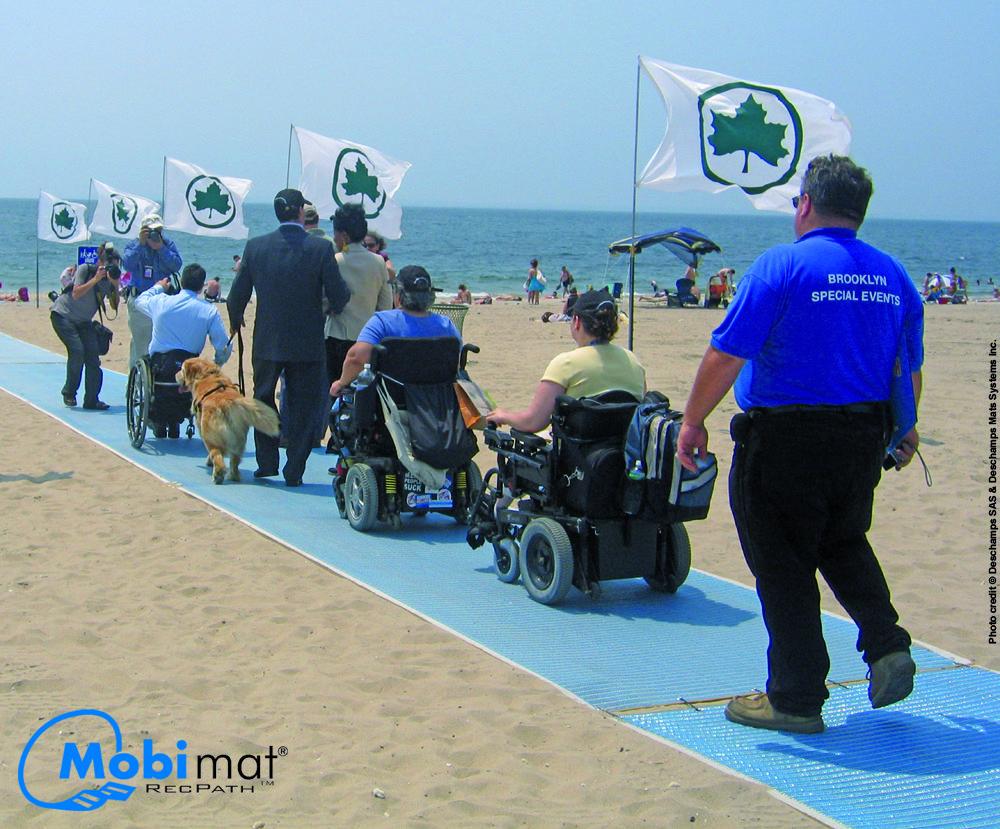 Recpath Roll Out Ada Beach Access Mat Adaptive Sports Beach Surfing