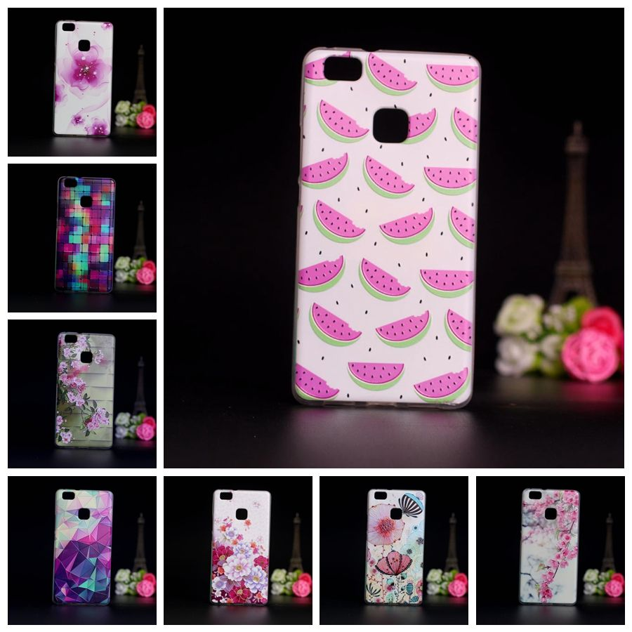 huawei p9 phone cases. 2016 soft tpu protector case for coque huawei ascend lite silicon back cover fundas phone capa p9 cases