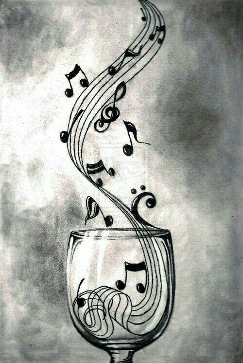 Una Copa Cada Dia Y Eres Feliz Musical Art Music Art Music Tattoos