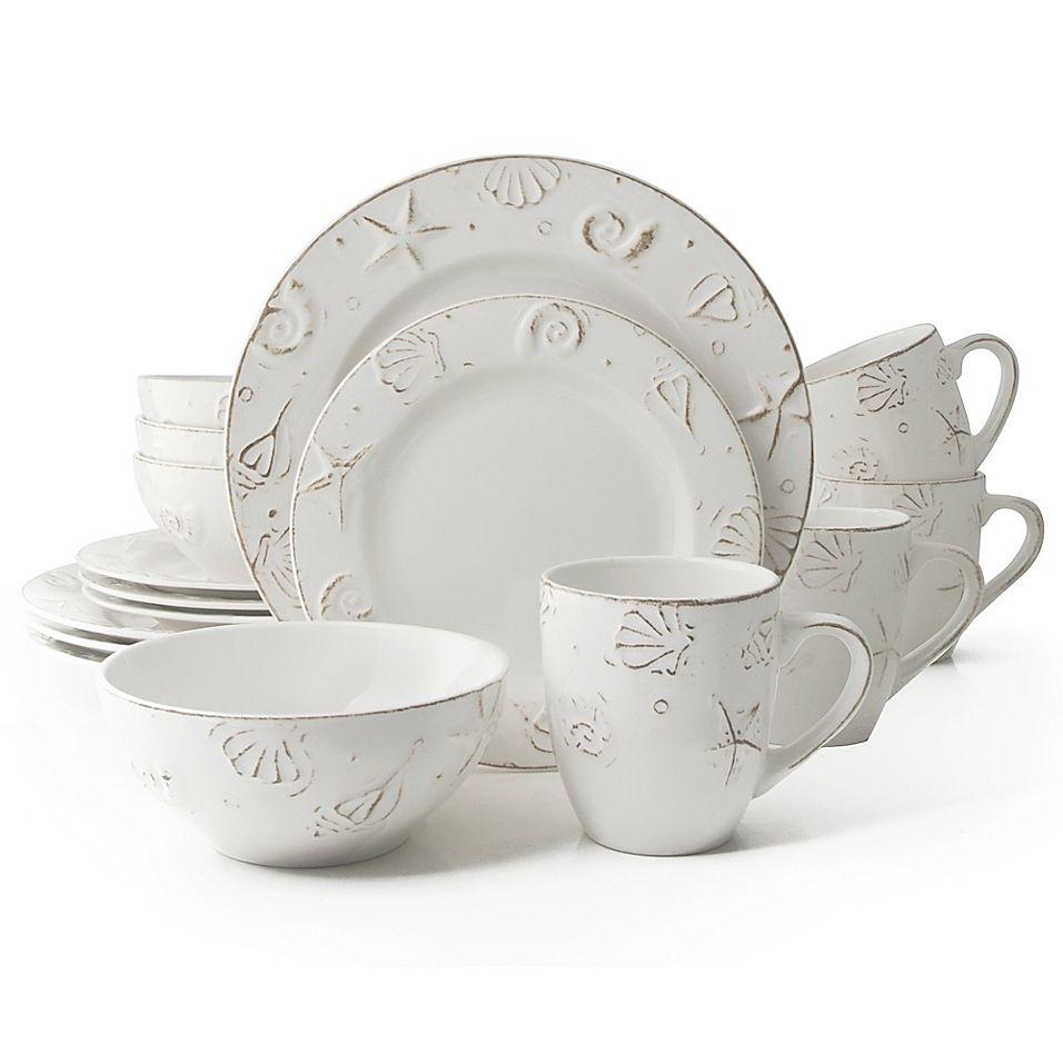 Thomson Pottery Hampton 16 Piece Stoneware Dinnerware Set White In
