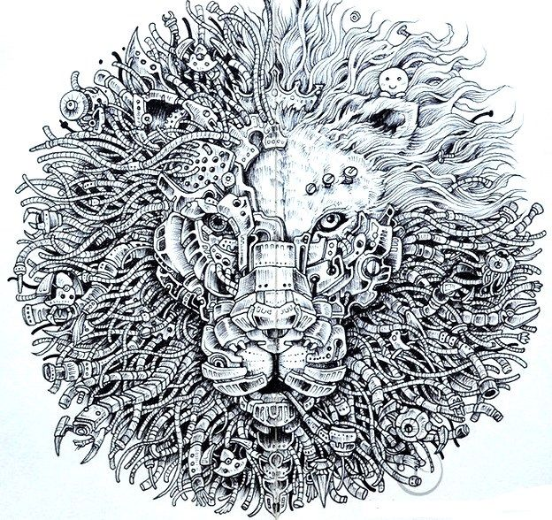 doodle by Kerby Rosane | Coloring-Animals | Pinterest | Doodles and ...