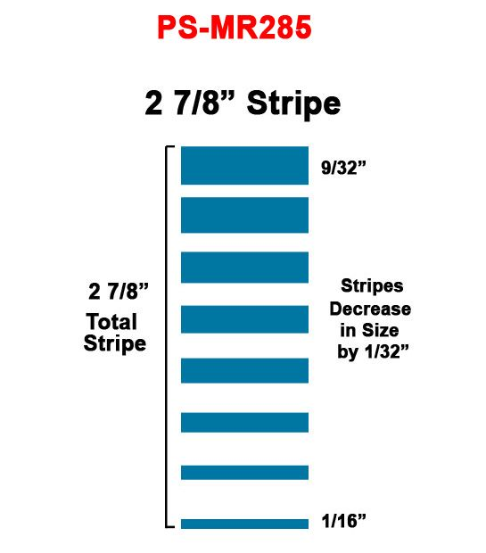 2 7/8 inch Mirage 285 Pinstripe Tape, 150 Ft Roll | Pinstriping Tape ...